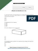 03. Simulado de Matemática Do 5º Ano 2 1