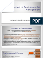 1.Introduction to Environmental Sciences