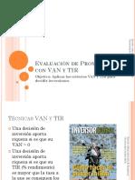 Clase 6 Evaluacion de Proyectos Con VAN y TIR