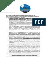 Asamblea Ciudadana Contra Corrupcion e Impunidad - COMUNICADO-ACCI-17082018
