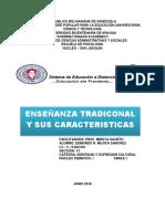 Enseñanza Tradicional y Sus Cararcteristicas