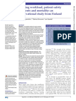 Nursing Workload Patient Safety Incidents and Mortality