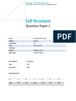 1.1 - Cell Structure - Cie Ial Biology Qp