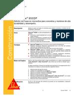 Aditivo Para Concretos Morteros Alta Durabilidad Desempeño Sikacrete 950 Dp