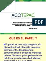 Generalidades Del Proceso de Formación Del Papel - Ing. Jorge Torres