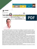 Les enjeux de la régionalisation avancée | L'Economiste.pdf