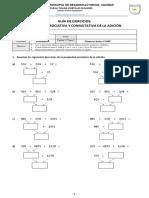 GUÍA de EJERCICIOS Propiedad Asociativa Conmutativa