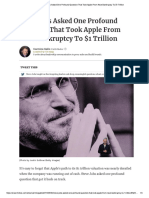 Apple - Steve Jobs Asked One Profound Question