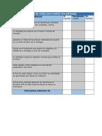 Lista de cotejo para evaluar antología