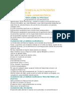 Recomendaciones Al Alta Pacientes Colecistectomía Laparoscópica