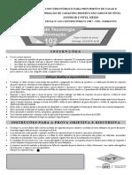 Concurso Público CFM - 01-2018 - 102 -Analista de Técnologia Da Informação