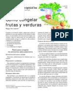 Congelación de Frutas y Almíbares