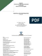 Manual Do Estudante 2018