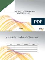 Manual Instalacion Equipos Proyecto Claro