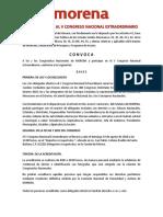 morena Convocatoria V Congreso Nacional 19 Ago 2018