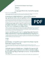 3. the Prayer Requested by Khandro Yeshe Tsogyal Chapter Three the Prayer Requested by Khandro Yeshé Tsogyal