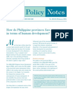 How Do Philippine Provinces Fare in Terms of Human Development?