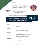 Informe Final Puente Cachimayo