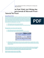 Home Tutorial Microsoft Word Cara Membuat Font Tebal