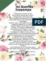 A Mi Querida Oxapampa Poema