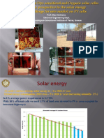 [Ppt]-High Efficient Dye Sensitized and Organic Solar Cells-A New Perspective to the Solar Energy a Challenge for New Market on PV Cells