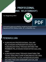 Hubungan Profesional