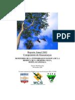 Estudio de guacamayas Reserva de Biosfera Maya, Guatemala