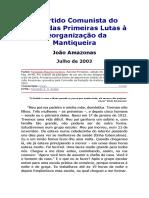 JOÃO AMAZONAS - O Partido Comunista Do Brasil