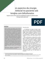 Principais Aspectos Da Cirurgia Bucomaxilofacial No Paciente Sob Terapia Com Bifosfonatos