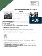 Prueba 3° Siglo XX 1891-1938