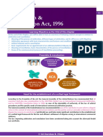 Arbtration and Concilation Act 1996notes