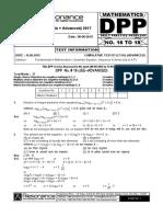 XI Maths DPP (07) - Basic Maths - Quadratic Equation - Sequence&Seriezzzzzzzxxzzzzxzzzzzs
