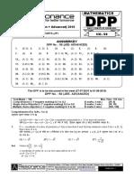 XII Maths DPP (22) - Prev Chaps