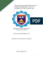 Demostración Del Peralte, Radio Mínimo y Su Transición Sobre Una Curva Circular Dado en El Manual de Carreteras Diseño Geométrico Mtc