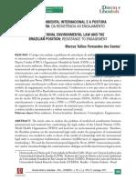 Direito Ambiental Internacional e a Postura Brasileira