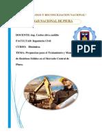 Propuestas para el Tratamiento y Manejo de Residuos Sólidos en el Mercado Central de Piura.