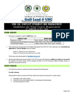 PMD 128 Final Requirement Guidelines