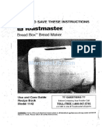 Bread Machine manual