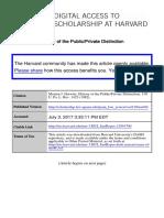 Horowitz - Public Private History