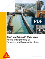 SikaAustralia-Sika and Tricosal Waterstops-For the Waterproofing of Expansion and Construction Joints