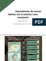 EQUIVALENCIA DE BILLETES NUEVOS.pptx