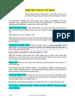 Monetary Policy of India (1)
