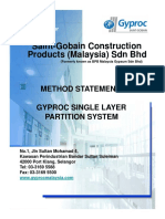 02. Method Statement - Single Layer Partition System