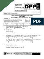 XII Maths DPP (01) - Prev Chaps - Conic Section.pdf