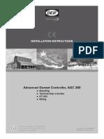 AGC 200 Installation Instructions 4189340610 UK