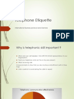 Telephone Etiquette in Business
