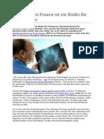 Bauchfett Bei Frauen Ist Ein Risiko Für Osteoporose