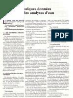 Qq Donnees Sur l'Analyse Eau 24