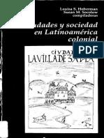 Louisa Hoberman y Susan Socolow - Ciudades y sociedad en Latinoamerica colonial.pdf