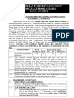 RECRUITMENT FOR THE POST OF ASSISTANT COMMANDANT (ENGINEER) IN ITBPF-2018